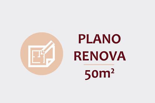Plano Renova para ambientes até 50m²