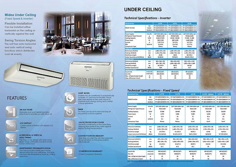 Midea44 Light Commercial (Fixed Speed an