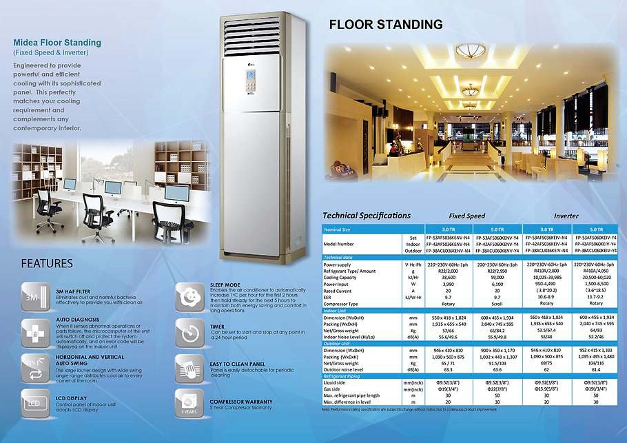Midea22 Light Commercial (Fixed Speed an