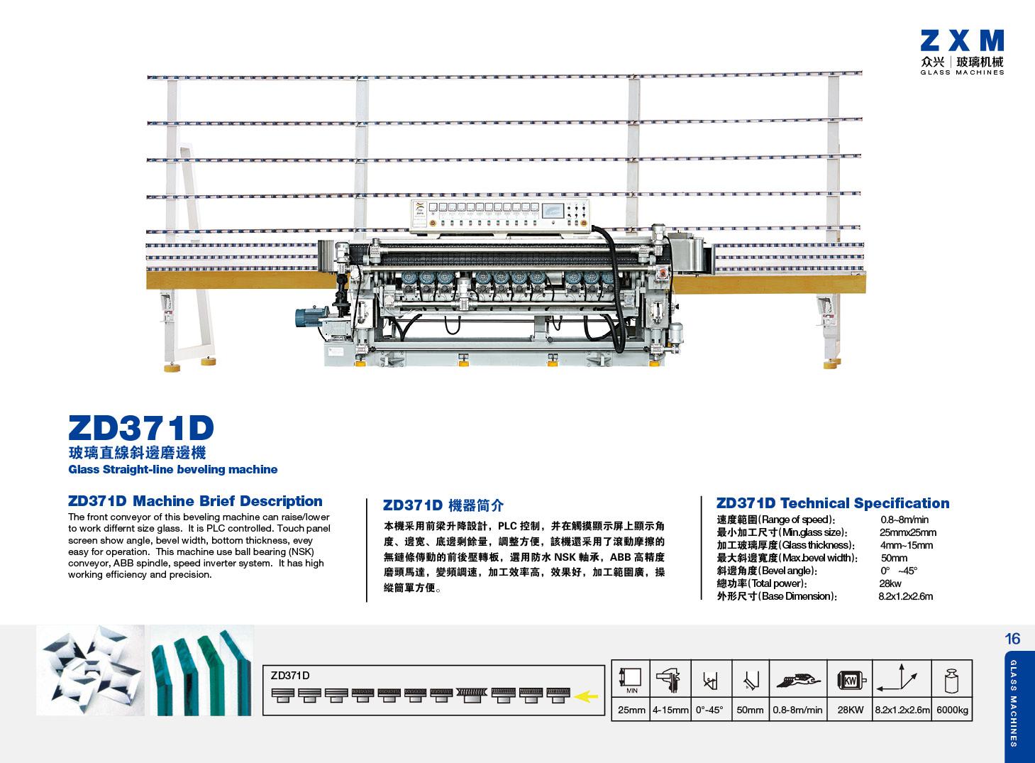 Maszyny szklarskie ZXM 02