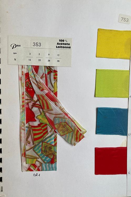 Fontanel Ribbons Sample Book - Individual Page - Spring Summer 1995