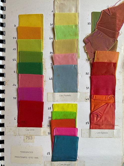 Fontanel Ribbons Sample Book - Individual Page - Spring Summer 1