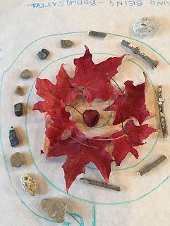 Mandala with leaves at  Art and Yoga jpg