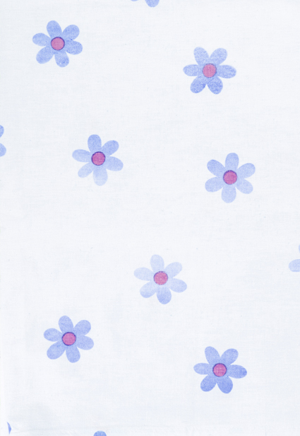 Cute Blue Flower Print
