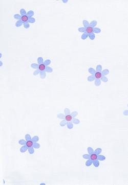 Cute Blue Flower Print