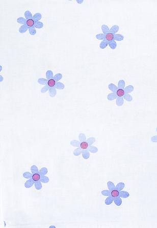 Leuke Blauwe Bloem Print
