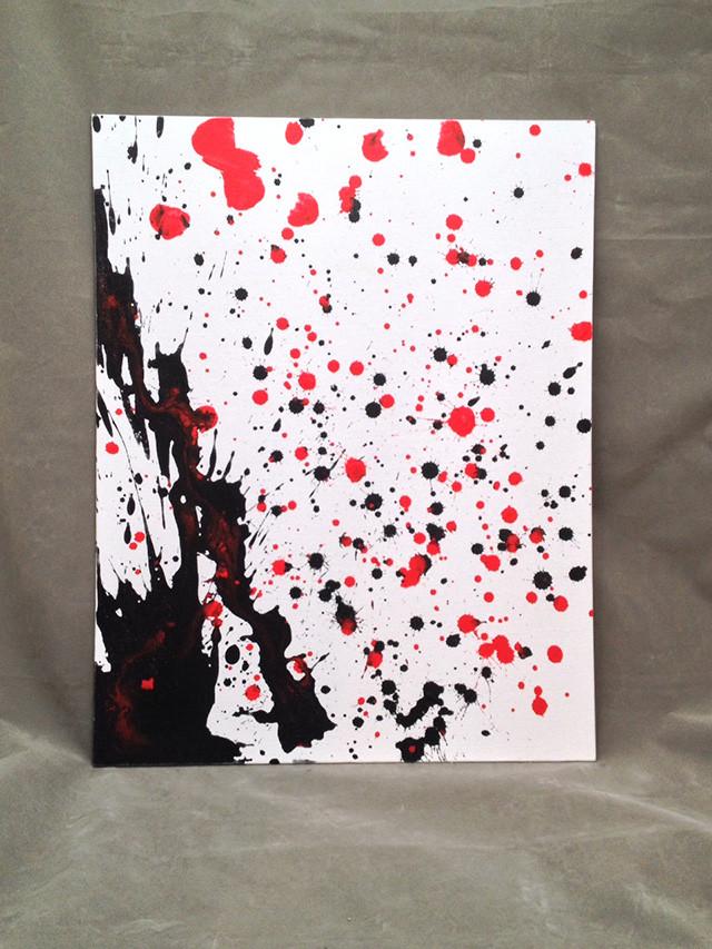 "Artist William B. 14""x17"" Acrylic On Canvas"