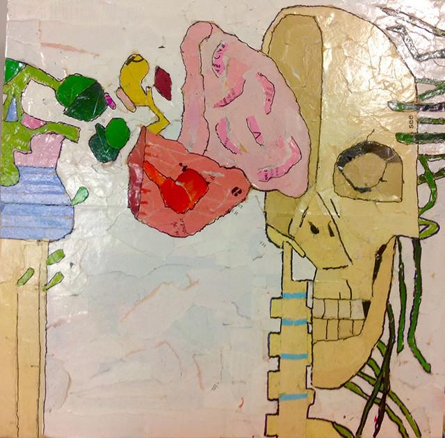 "Artist LaRay P. 14""x14"" Mixed Paper"