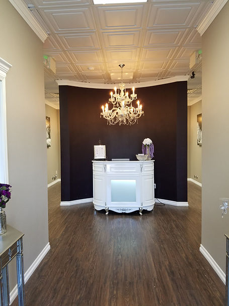 reception desk at salon studios