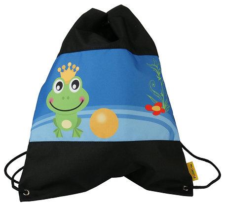 Kindergarten-Turnbeutel Froschkönig