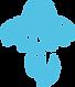 Blume hellblau