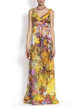 Long Silk Cocktail Dress