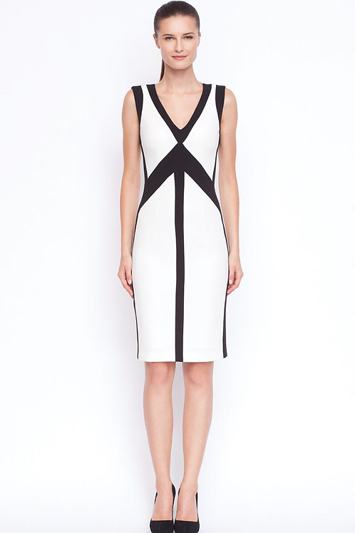 Black & White fitted dress