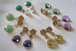 Colored Stones Gold 18k Plated E.