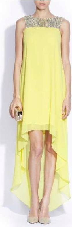 Long Cocktail Lime Dress