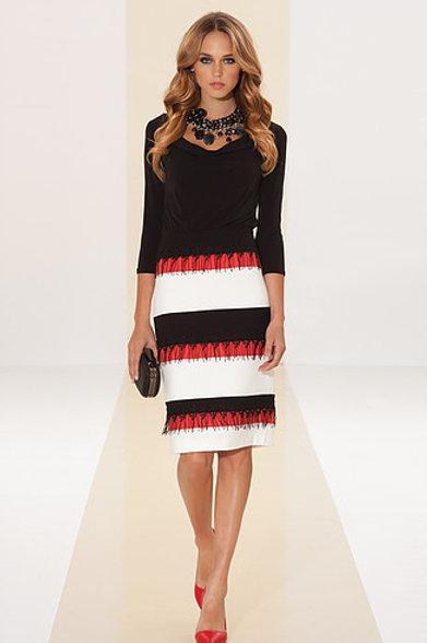 Spring stripe coloured dress