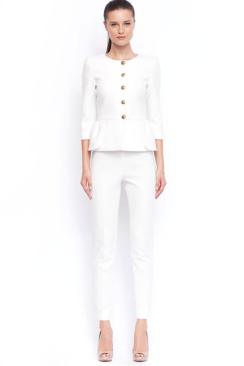 White elegant pants