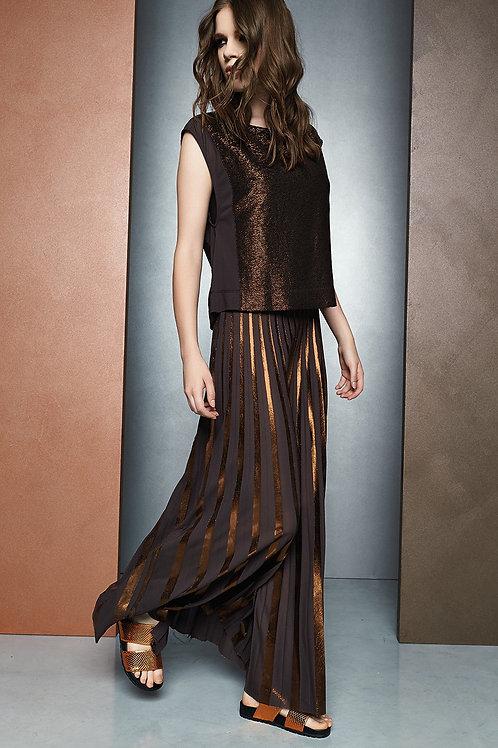 Bronze colour evening dress