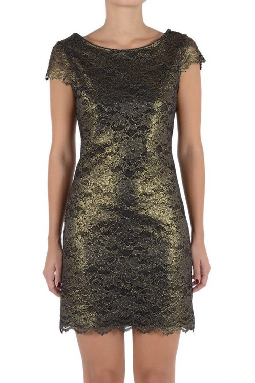 Bronze colour fitted dress
