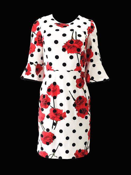 Spring carnival poppy dress
