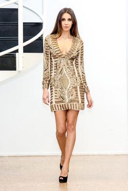 Golden sequined Evening Dress
