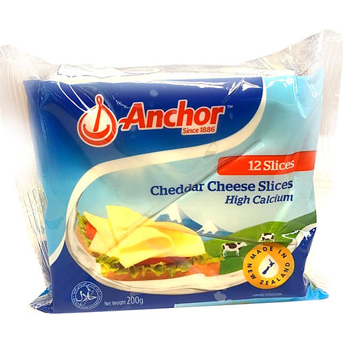 Anchor Cheddar Cheese Slices 200g (12 per pack)