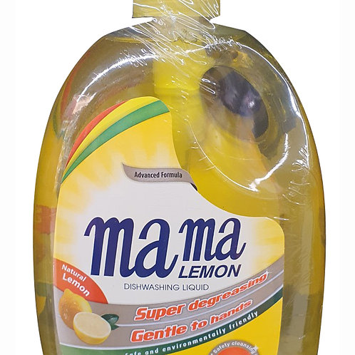 Mama Lemon Gold Dishwashing Liquid & Refill - Natural Lemon 2 x 1L