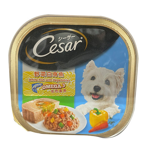 Cesar Dog Wet Food - White Fish with Vegetables 100g