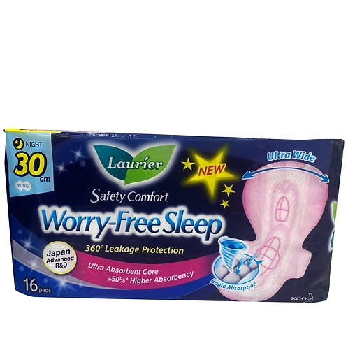 Laurier Worry-Free Sleep Night Pads - 30cm 16 per pack