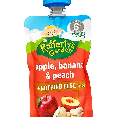 Rafferty's Garden Baby Food - Apple Banana & Peach 120g