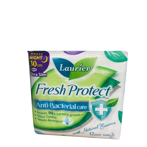 Laurier Fresh Protect Night Pads - Heavy Ultra Slim(30cm) 12 per pack