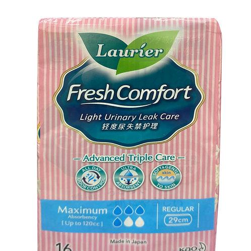 Laurier Fresh Comfort Light Urinary Leak Pads-120cc(29cm) 16 per pack