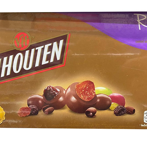 Van Houten Milk Chocolate Gift Tin - Raisins 180g