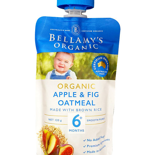 Bellamy's Organic Ready to Eat Baby Food - Apple & Fig Oatmeal 120g