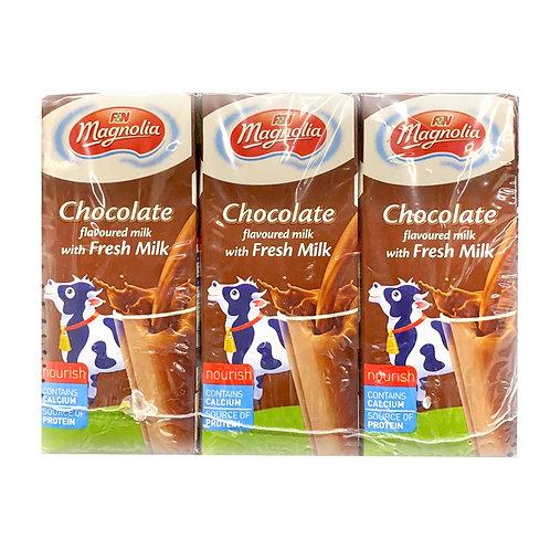 F&N Magnolia UHT Packet Milk - Chocolate 6 x 250ml