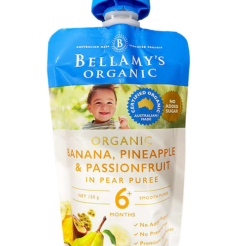 Bellamy's Organic Baby Food - Banana, Pineapple & Passionfruit