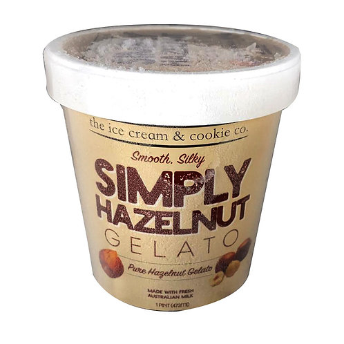 The Ice Cream & Cookie Co. Gelato Ice Cream-Simply Hazelnut (Smooth. Silky)473ml