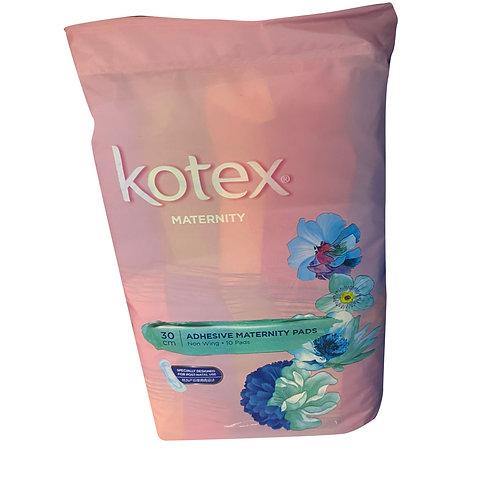 Kotex Adhesive Maternity Pads - Non Wing (30cm) 10 per pack