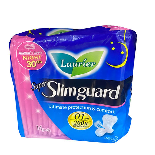 Laurier Super Slimguard Night Pads - Normal Heavy (30cm) 14 per pack