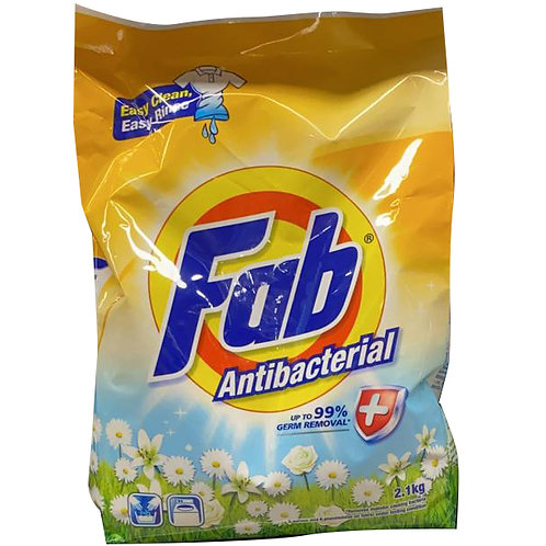 Fab Detergent Powder - Anti-Bacterial 2.1kg