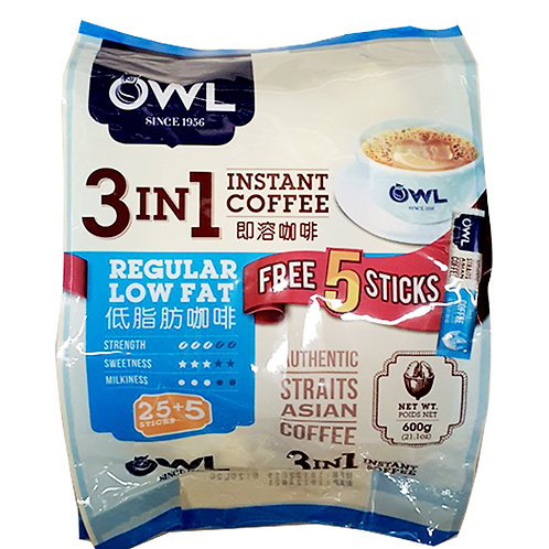 Owl 3 in 1 Instant Coffee - Strong 25 x 20g