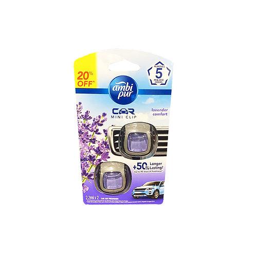 Ambi Pur Car Mini Clip Air Freshener - Lavender Comfort 2 x 2ml