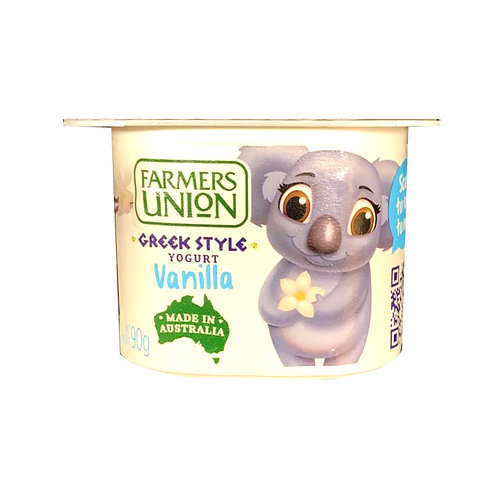 Farmers Union Greek Style Yoghurt - Vanilla 90g