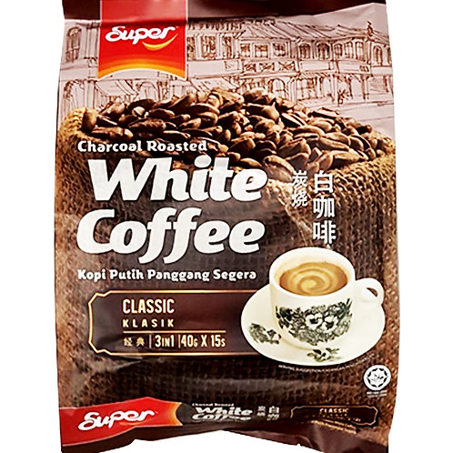 Super 3 in 1 Instant Charcoal Roasted White Coffee - Classic 15 x 40g