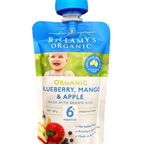 Bellamy's Organic Baby Food - Blueberry Mango & Apple 120g