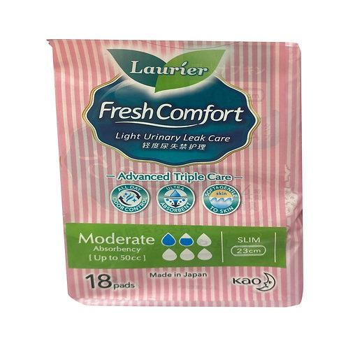 Laurier Fresh Comfort Light Urinary Leak Pads -50cc(23cm) 18 per pack