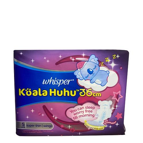 Whisper Koala Huhu Wing Pads - Super Thin (36cm) 5 per pack
