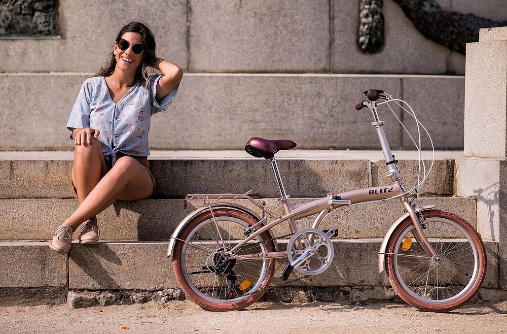 Bicicleta Dobrável BLITZ City champagne