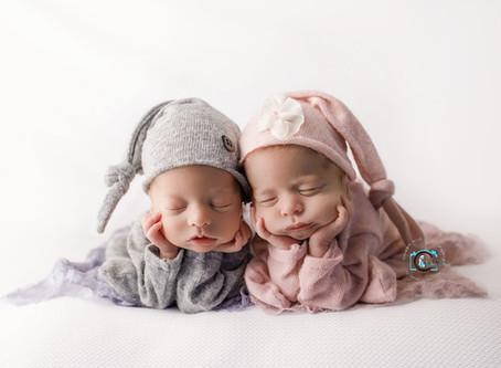 Twins Billie & Beau - 4 weeks new : Brisbane & Gold Coast newborn photography