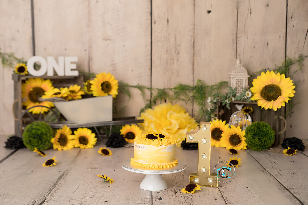 Sunflower Cake Smash